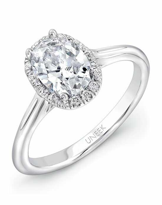 Uneek Fine Jewelry USMS08OV-7.5X5 Engagement Ring photo