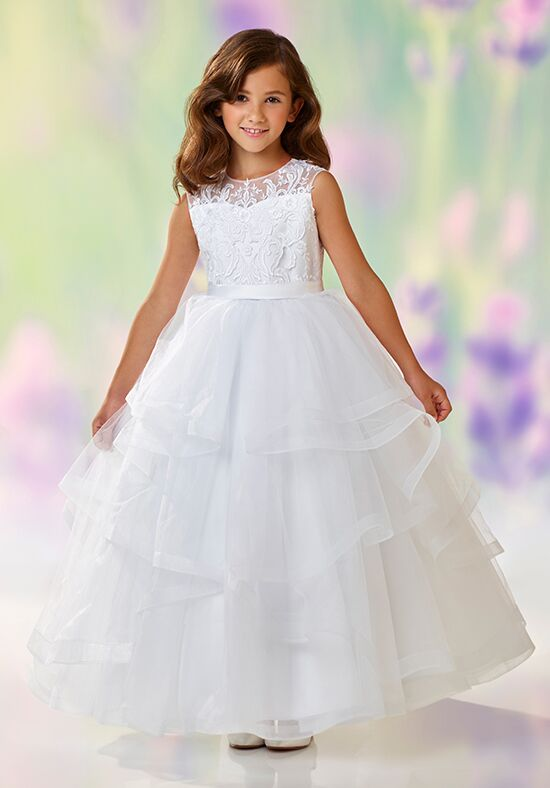 Joan Calabrese by Mon Cheri 118310 Pink Flower Girl Dress