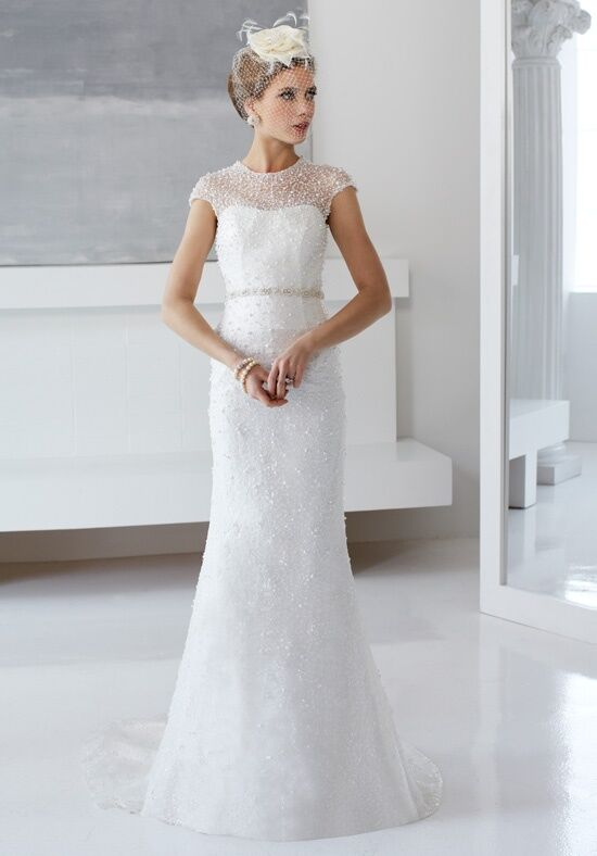 Val Stefani PERLA Sheath Wedding Dress