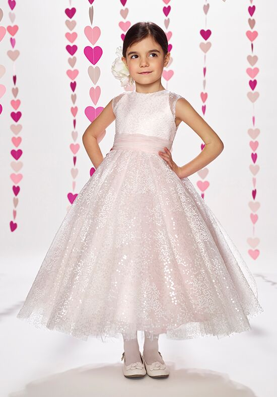 Joan Calabrese by Mon Cheri 217379 Ivory Flower Girl Dress