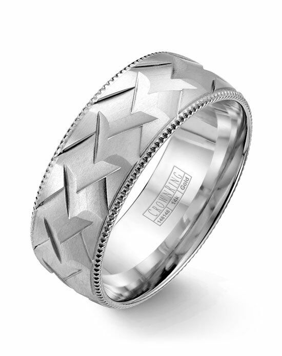 CrownRing WB-7912-M10 White Gold Wedding Ring
