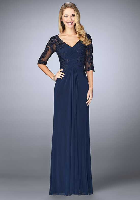 La Femme Evening 23118 Blue Mother Of The Bride Dress