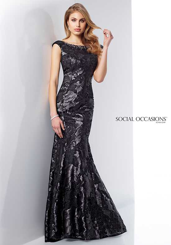 Social Occasions by Mon Cheri 217840 Black Mother Of The Bride Dress