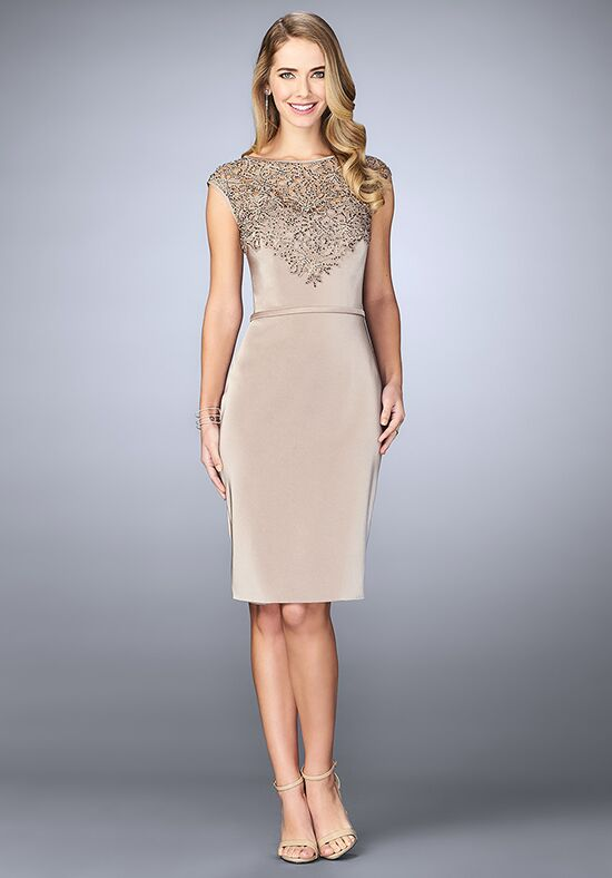 La Femme Evening 23266 Champagne Mother Of The Bride Dress