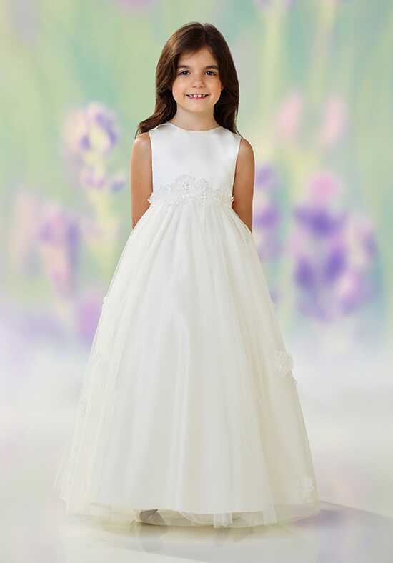 Joan Calabrese by Mon Cheri 118320 Gray Flower Girl Dress