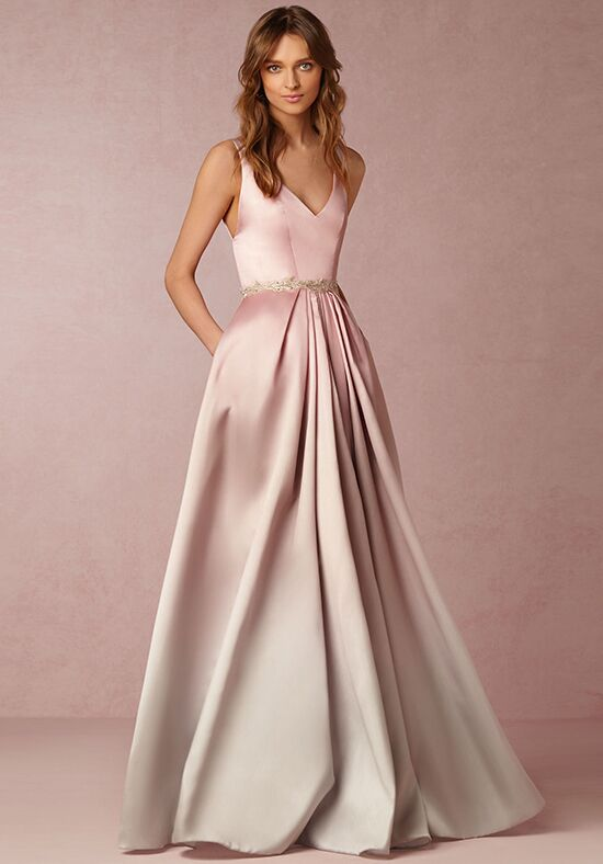 Cream Pink Bride or Mother of the Dresses