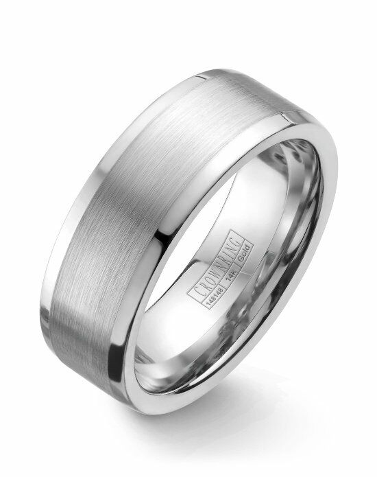 CrownRing WB-9845-M10 White Gold Wedding Ring