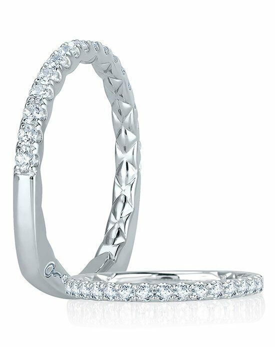 A.JAFFE MRS755Q White Gold Wedding Ring