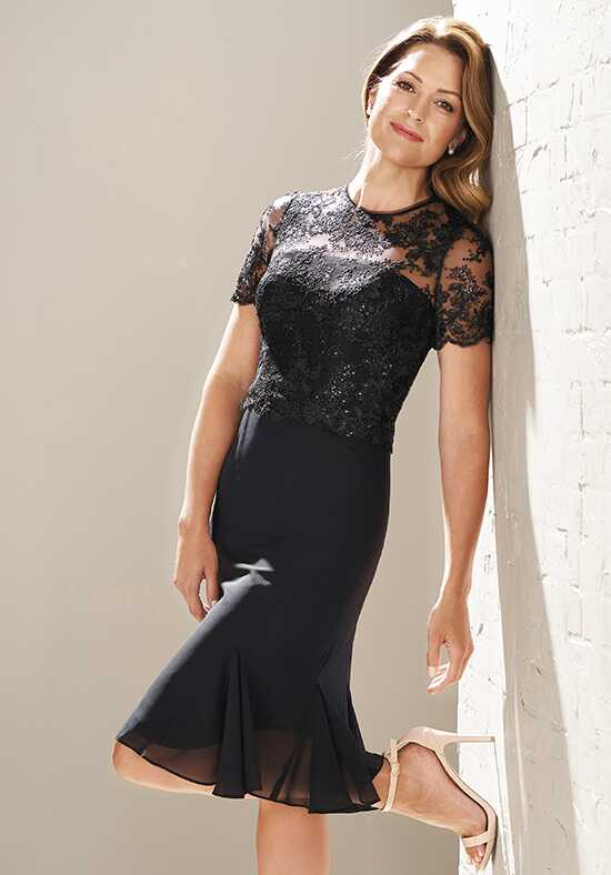 Jasmine Black Label M200006 Black Mother Of The Bride Dress