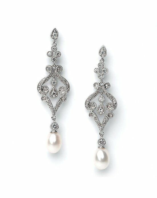 USABride Pearl Dynasty Earrings JE-685 Wedding Earring photo