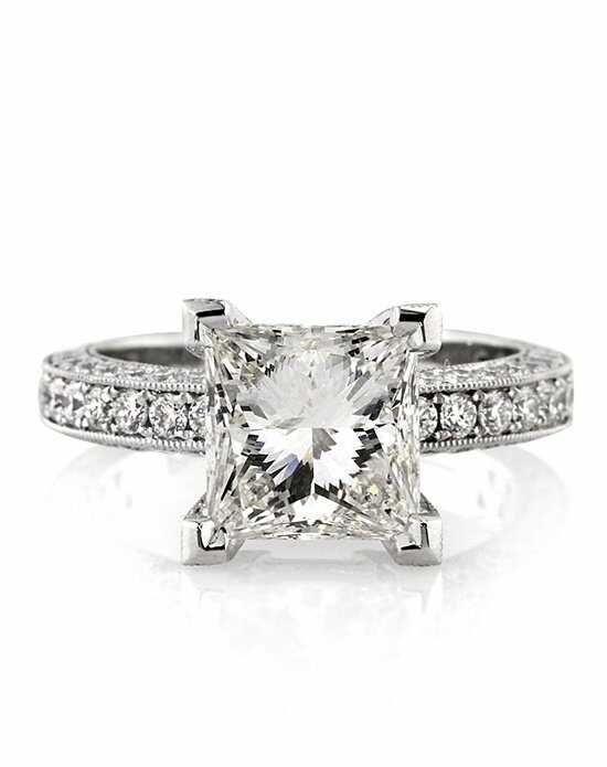 Mark Broumand Glamorous Princess Cut Engagement Ring