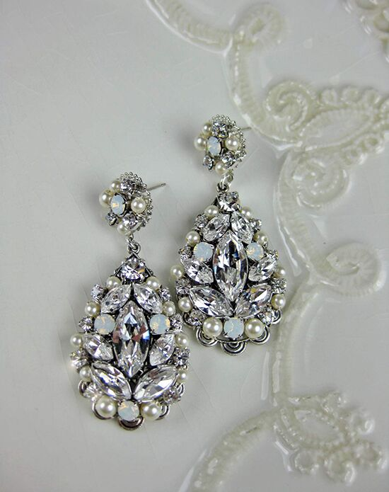 Everything Angelic Violet Earrings e339 white opal Wedding Jewelry