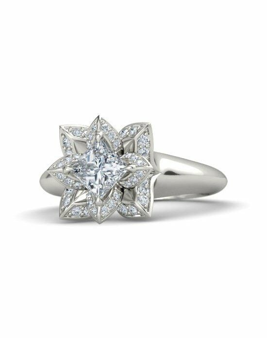 gemvara customized engagement rings princess cut lotus