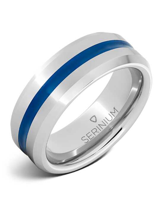 Serinium® Collection Thin Blue Line — Serinium® Ring-RMSA006061 Serinium® Wedding Ring