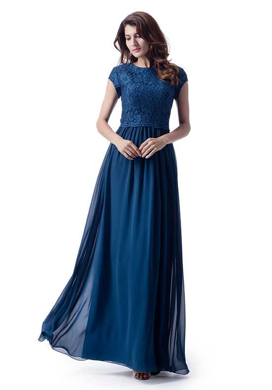 Modest Bridesmaids by Venus TM1799 Scoop Bridesmaid Dress