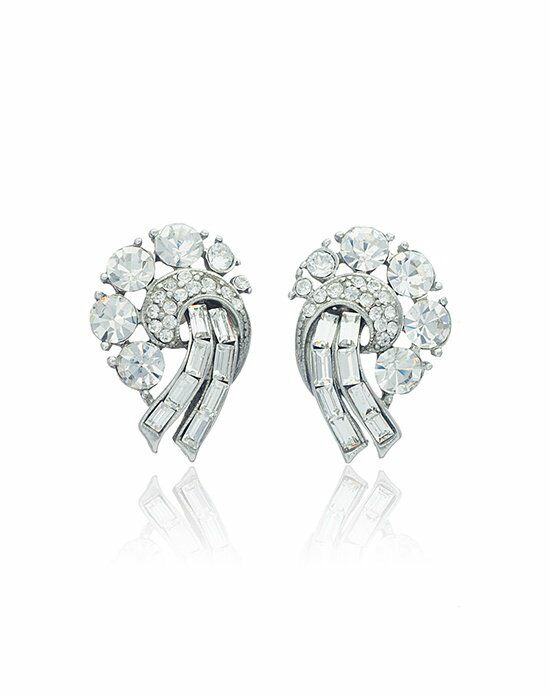 Thomas Laine Ben-Amun Bridal Bouquet Cluster Earrings Wedding Earring photo