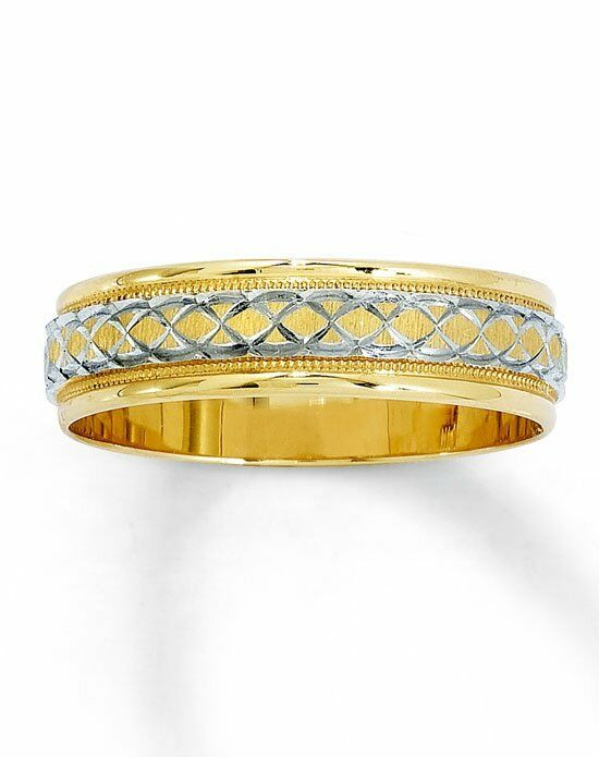 kay jewelers 14k two tone gold wedding band 250635303 white gold gold wedding - Kay Jewelers Wedding Ring