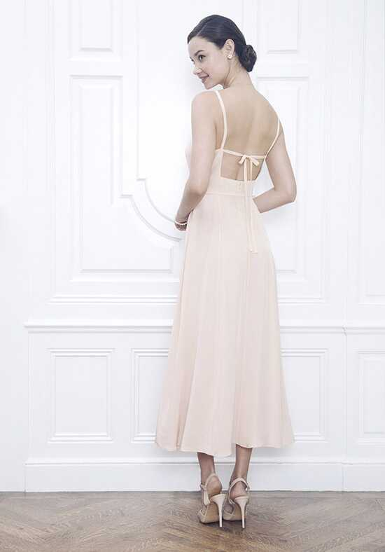 Jane Summers Moreland Backless Midi Length Silk Slip Dress Ball Gown Wedding Dress