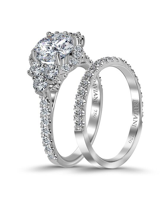 Daviani Love Links Collection DCR1043 White Gold Wedding Ring