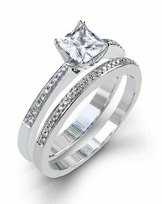 Zeghani Princess Cut Engagement Ring