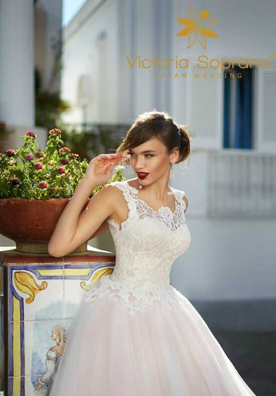 Capri Flora A-Line Wedding Dress