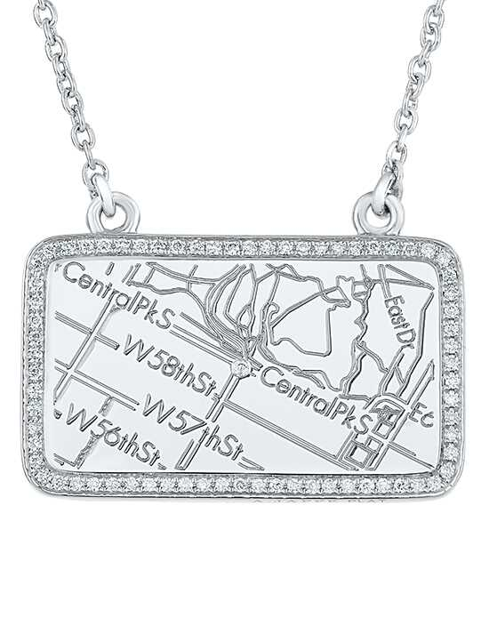 A.JAFFE Maps MAPN003 Wedding Necklace photo