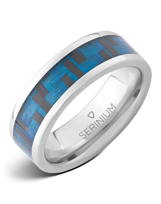Serinium® Collection Cyber Blue — Blue High Tech Serinium® Ring-RMSA002593 Serinium® Wedding Ring