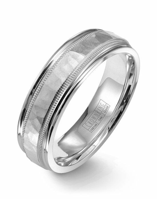 CrownRing WB-9917-M10 White Gold Wedding Ring
