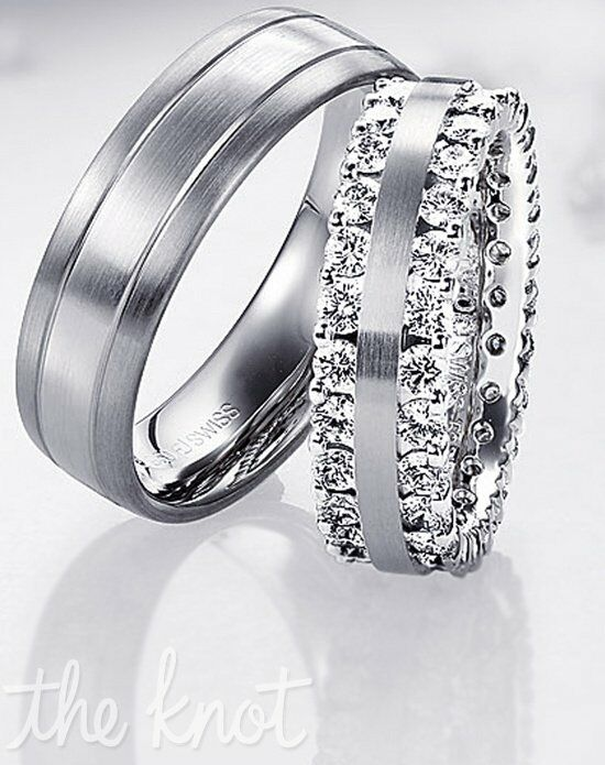 Diamond Ideals 71-28450 Palladium, Platinum, White Gold Wedding Ring