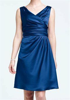 David's Bridal Collection F14823 V-Neck Bridesmaid Dress