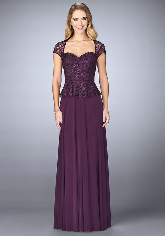 La Femme Evening 24915 Purple Mother Of The Bride Dress