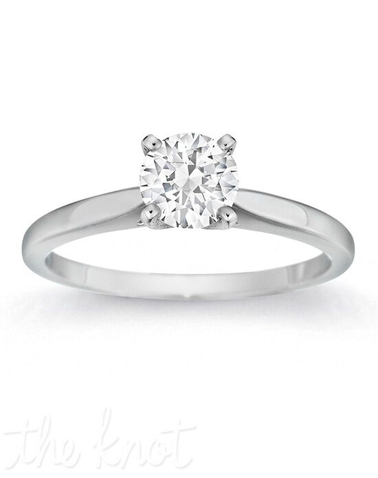 Gemesis Gemesis Four-Prong Serenity White Gold Wedding Ring
