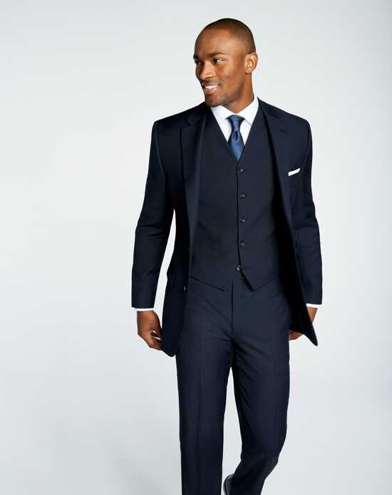Men's Wearhouse Pronto Uomo Platinum® Navy Suit Wedding Tuxedos + Suit photo