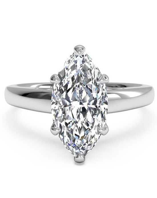 ritani solitaire diamond cathedral engagement ring - Marquise Wedding Rings