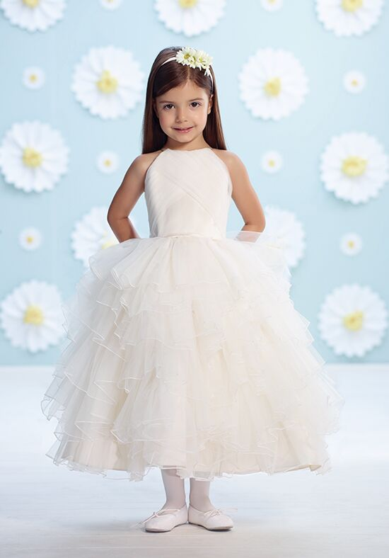 Joan Calabrese by Mon Cheri 116366 Ivory Flower Girl Dress