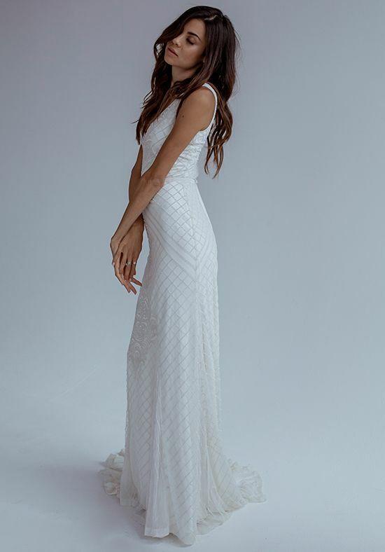 KAREN WILLIS HOLMES Whitney Mermaid Wedding Dress