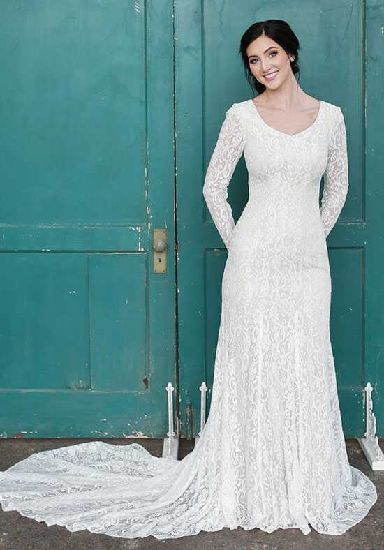 Modest by Mon Cheri TR21859 Sheath Wedding Dress