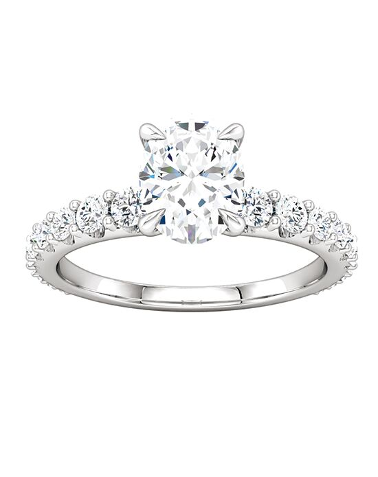 ever&ever Elegant Oval Cut Engagement Ring
