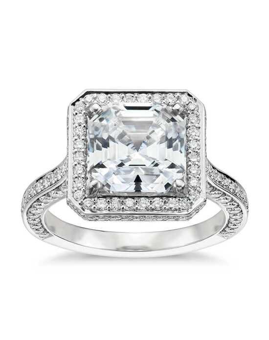 Blue Nile Studio Asscher Cut Royal Halo Diamond Engagement Ring Engagement Ring photo