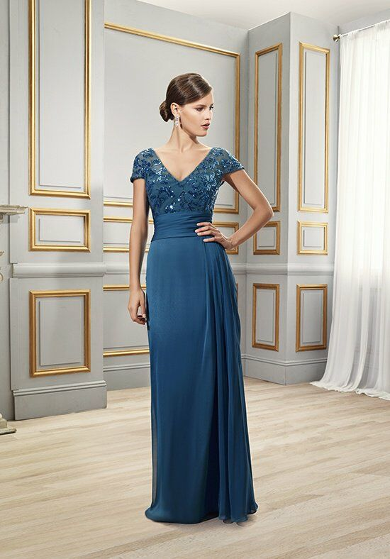 Val Stefani Celebrations MB7513 Blue Mother Of The Bride Dress