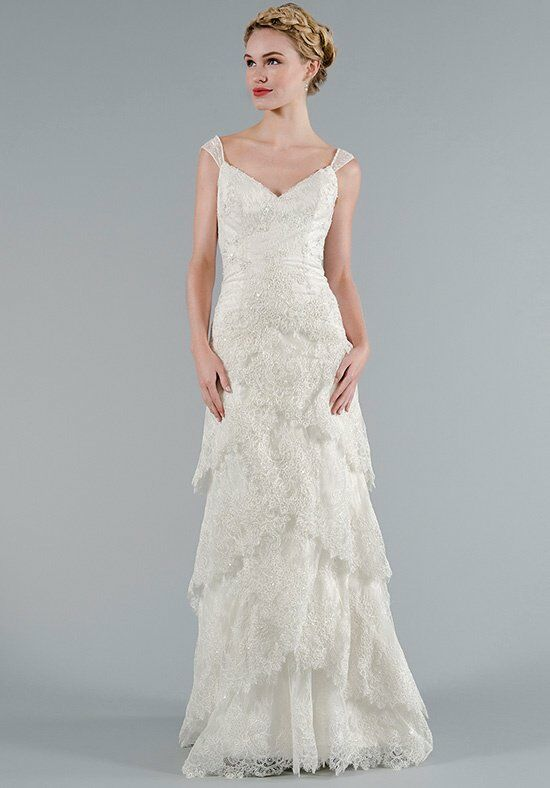 Isaac mizrahi for kleinfeld 50031 wedding dress the knot for Kleinfeld wedding dresses with sleeves