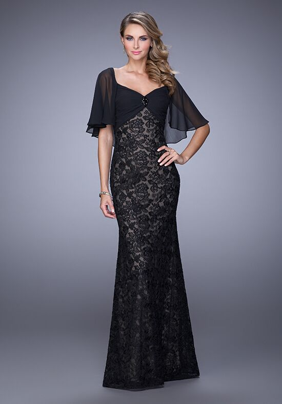 La Femme Evening 21639 Black Mother Of The Bride Dress