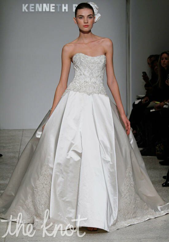 Kenneth Pool Heirloom Ball Gown Wedding Dress