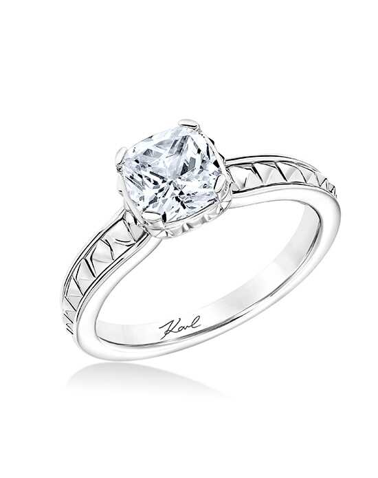 KARL LAGERFELD Unique Cushion Cut Engagement Ring