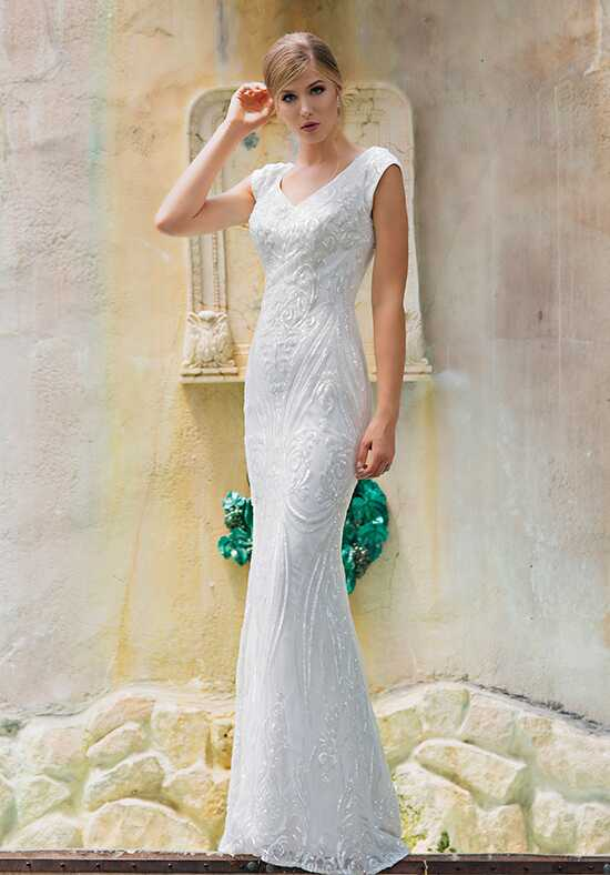 Modest by Mon Cheri TR11842 Sheath Wedding Dress