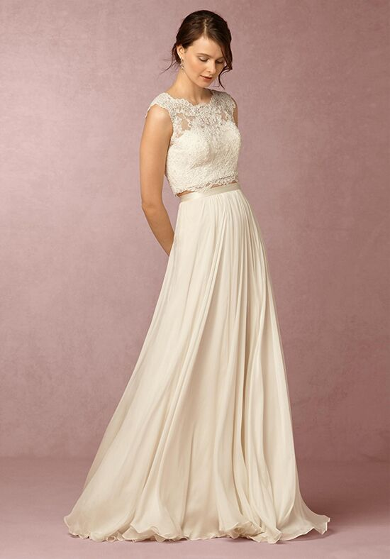 Bhldn brody top delia maxi skirt wedding dress the knot for Wedding dress skirt and top