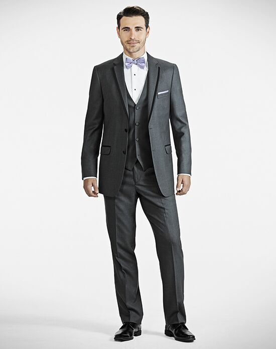 Generation Tux Charcoal Gray Notch Tux Gray, White Tuxedo