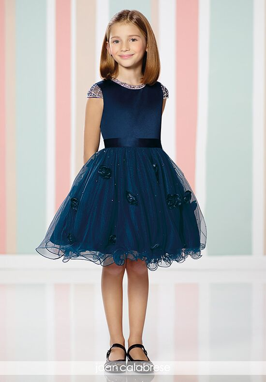 Joan Calabrese by Mon Cheri 216318 Blue Flower Girl Dress