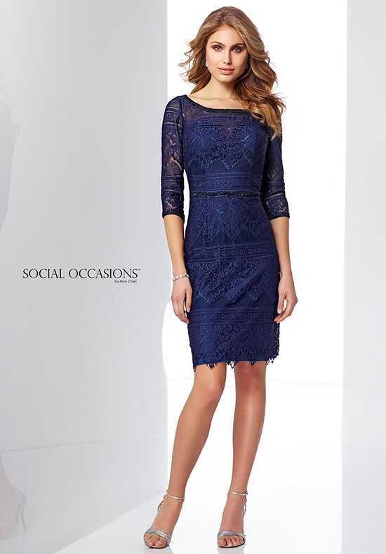 Social Occasions by Mon Cheri 217850 Blue Mother Of The Bride Dress