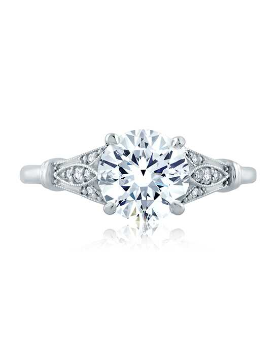 A.JAFFE Vintage Round Cut Engagement Ring